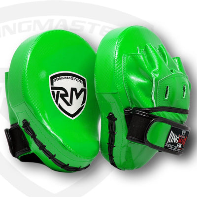 RingMaster Sports Ultralight Focus Pads Carbon Leather One Size Green