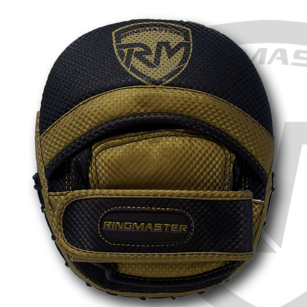 RingMaster Sports Cobra X2 Series Compact Focus Pads Black/Gold