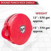 RingMaster Sports Round Kick Shield Synthetic Leather Red
