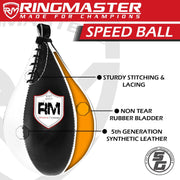 RingMaster Sports Speed Ball Synthetic Leather White/Black