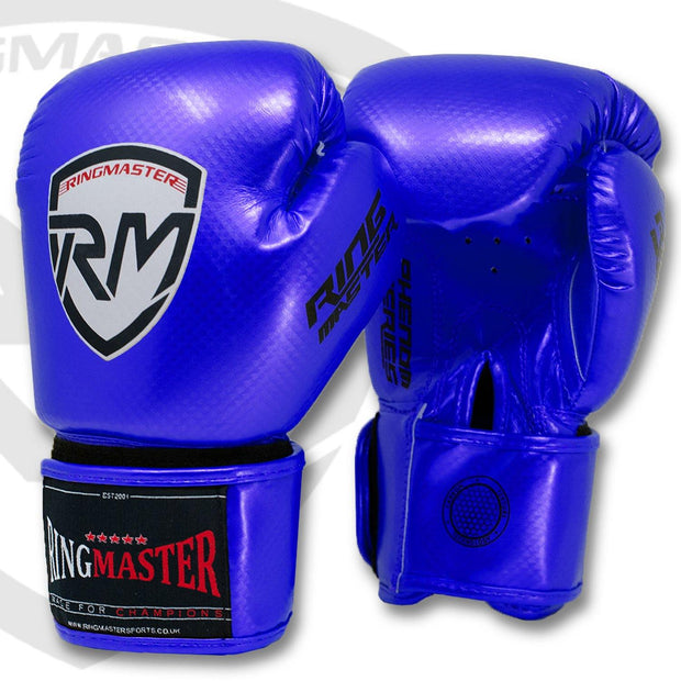 RINGMASTER SPORTS - PHENOM KIDS BOXING GLOVES CARBONTECH BLUE