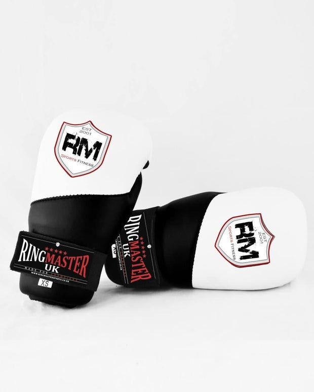 RingMaster Sports Semi Contact Point Gloves Taekwondo Kickboxing Black Image 2