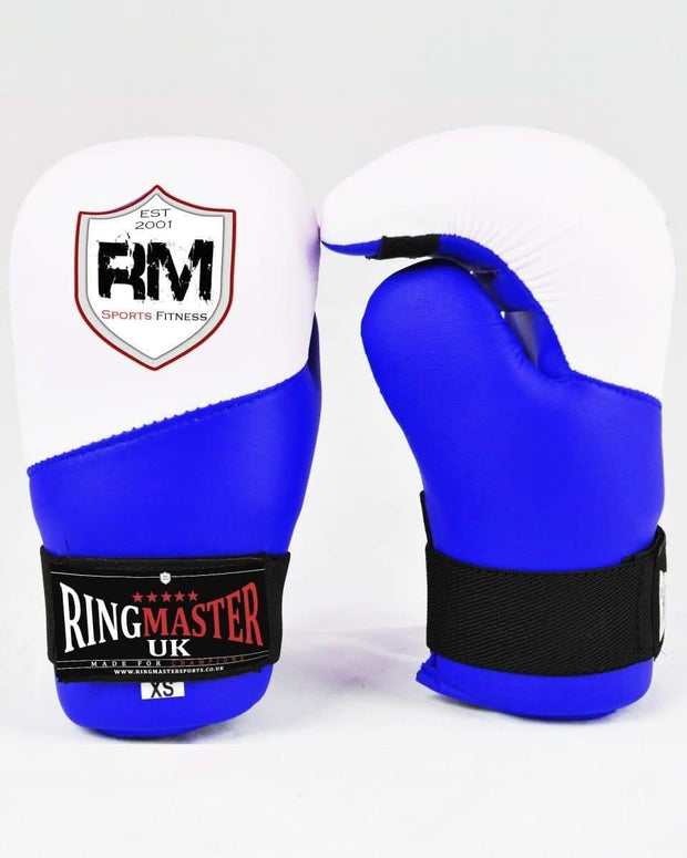 RingMaster Sports Semi Contact Point Gloves Taekwondo Kickboxing Blue image 1