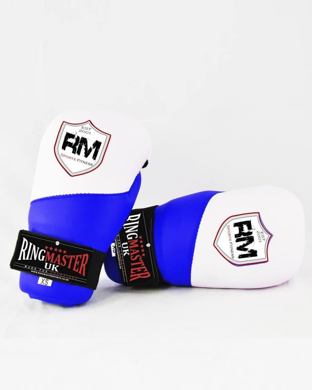 RingMaster Sports Semi Contact Point Gloves Taekwondo Kickboxing Blue Image 2
