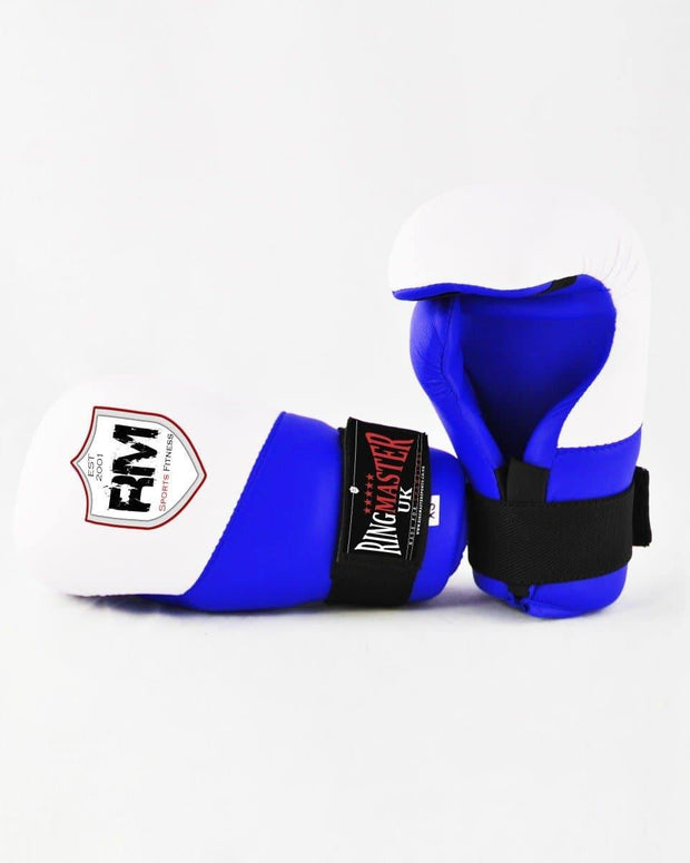 RingMaster Sports Semi Contact Point Gloves Taekwondo Kickboxing Blue Image 4