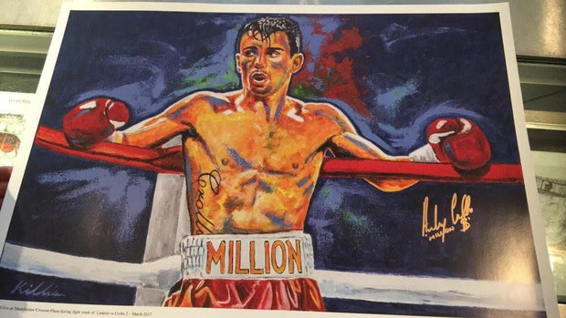 "Anthony ""Million Dolla"" Crolla Signed Framed Painting Print Poster original painting By Patrick J. Killian Image 2"