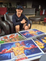 "Anthony ""Million Dolla"" Crolla Signed Framed Painting Print Poster original painting By Patrick J. Killian Image 3"
