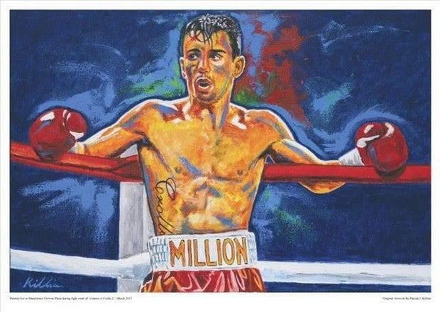 "Anthony ""Million Dolla"" Crolla Signed Framed Painting Print Poster original painting By Patrick J. Killian Image"