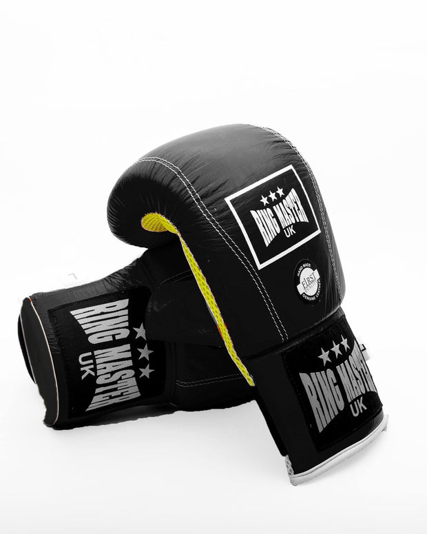 Black Genuine Leather RingMaster Sports Bag Mitts Image 3