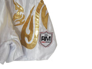 RingMaster Sports Thai Kickboxing Shorts White Image 1