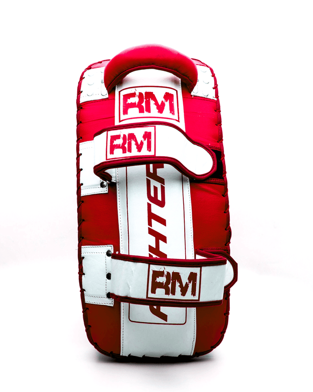 One Size Red and White Genuine Leather RingMaster Sports Arm Pads image 5