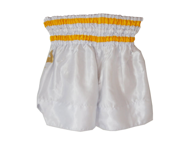 RingMaster Sports Thai Kickboxing Shorts White Image 2