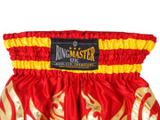 RingMaster Sports Thai Kickboxing Shorts Red Image 1
