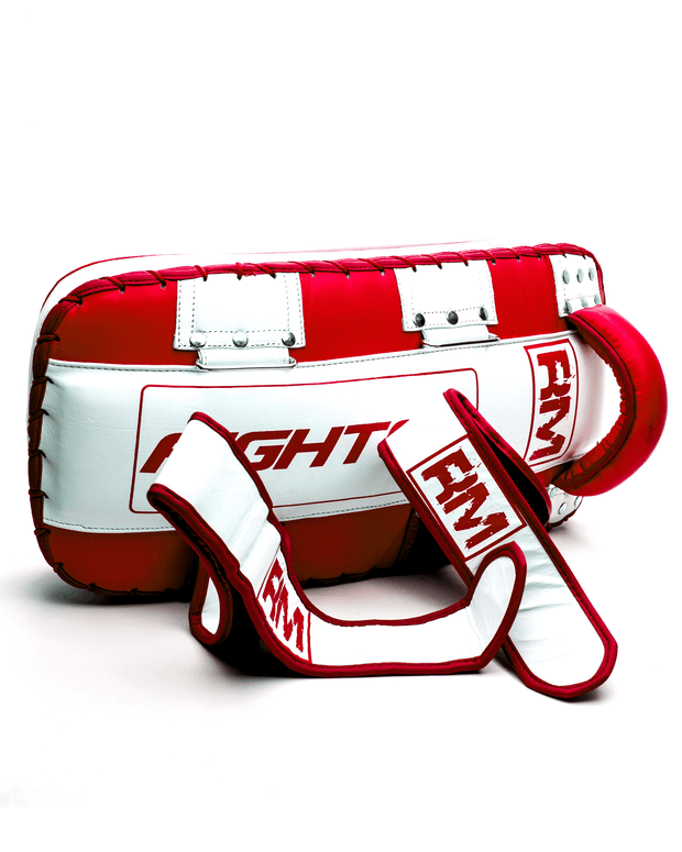 One Size Red and White Genuine Leather RingMaster sports Arm Pads image 3