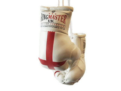 England Flag Mini Boxing Gloves Car Hanger image 1