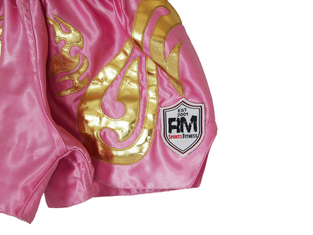 RingMaster Sports Thai Kickboxing Shorts Pink Image 1