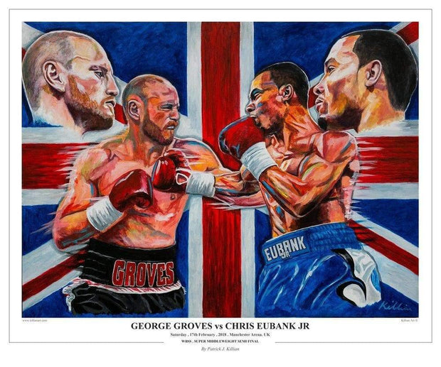 **Fine Art** Groves v Eubank Limited Edition original Painting Print Poster By Patrick J. Killian Imnage 1