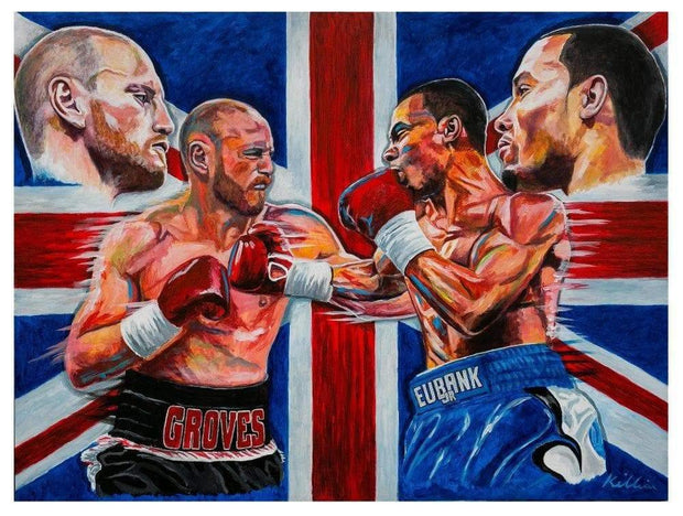 Groves v Eubank Limited Edition original Painting Print Poster By Patrick J. Killian Image 1