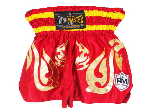 RingMaster Sports Thai Kickboxing Shorts Red Image 4