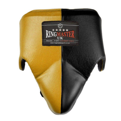 RingMaster Sports Groin Guard Genuine Leather Brown image 3