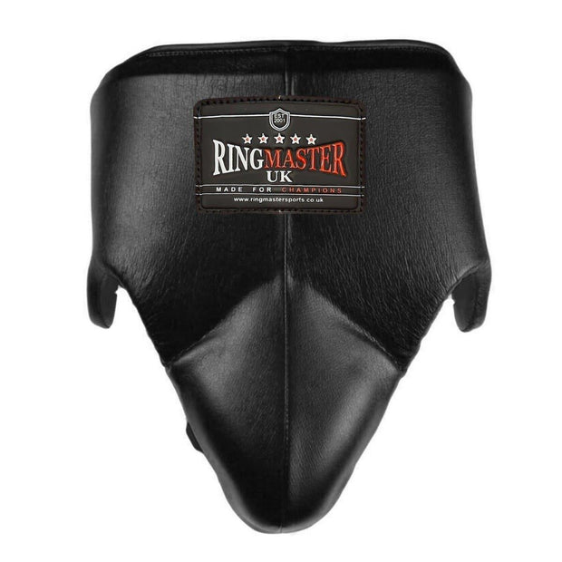 RingMaster Sports Groin Guard Genuine Leather Black image 3