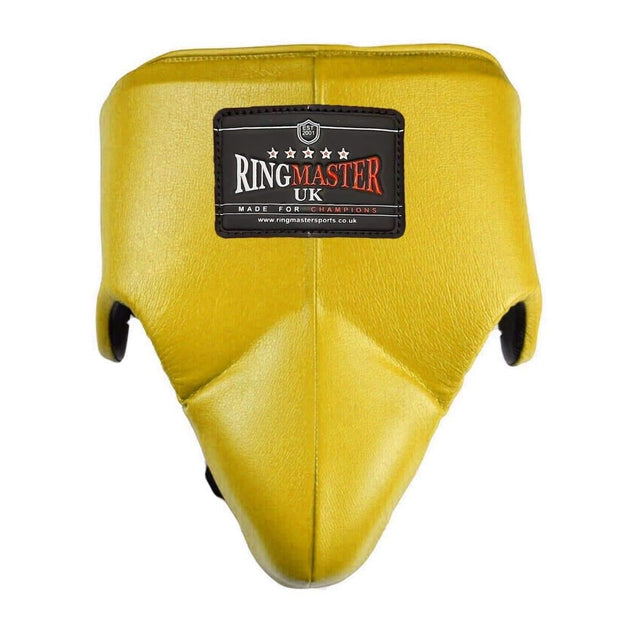 RingMaster Sports Groin Guard Genuine Leather Gold image 1