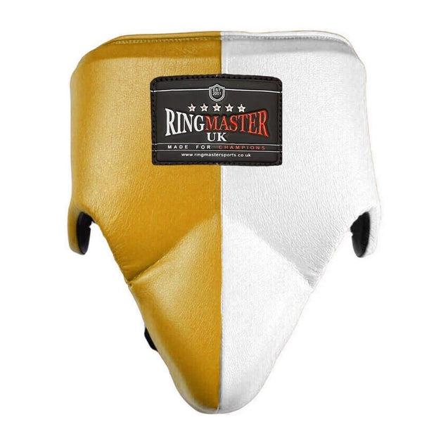 RingMaster Sports Groin Guard Genuine Leather Green image 2