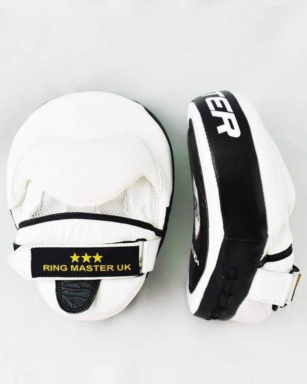 RingMaster sports Focus pads One Size Genuine Leather Black and White Image 2