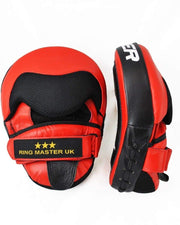 RingMaster Sports Focus pads One Size Genuine Leather Red and Black Image 2