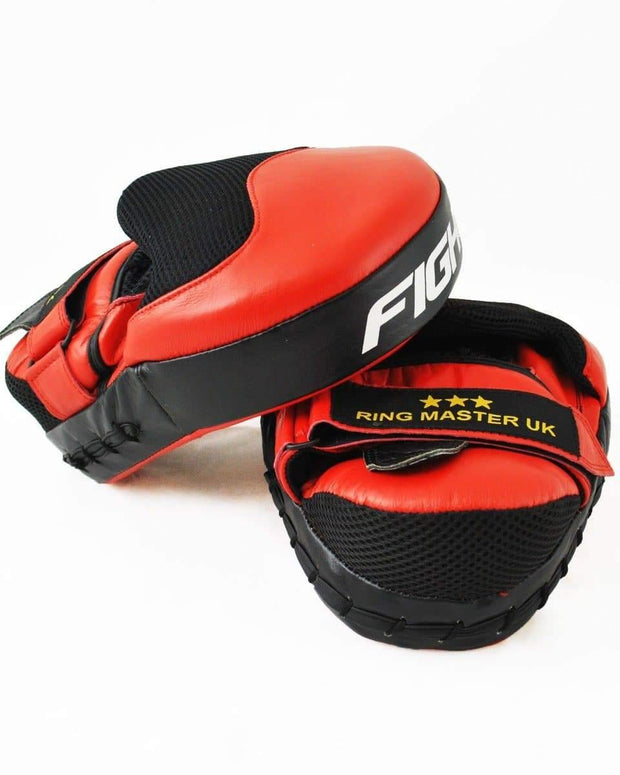 RingMaster Sports Focus pads One Size Genuine Leather Red and Black Image 4