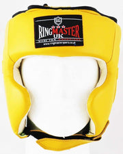 RingMaster Sports Boxing HeadGuard Genuine Leather Yellow image 1