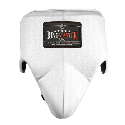 RingMaster Sports Groin Guard Genuine Leather White image 4