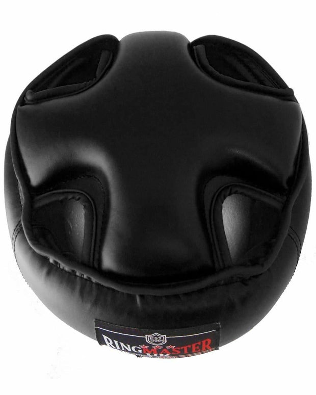RingMaster Sports Open Face Kids Headguard AIBA styled Black Image 4