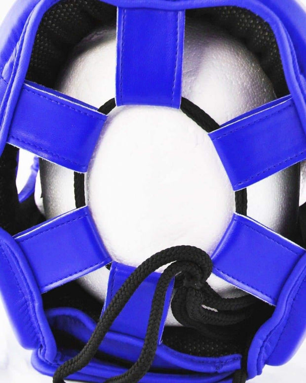 RingMaster Sports Open Face Boxing HeadGuard Synthetic Leather Blue Image 4