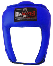 Kids Extra Small Blue Synthetic Leather RingMaster Sports Open Face Head Guard Image 1