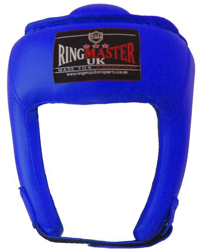RingMaster Sports Open Face Headguard AIBA styled Blue image 1