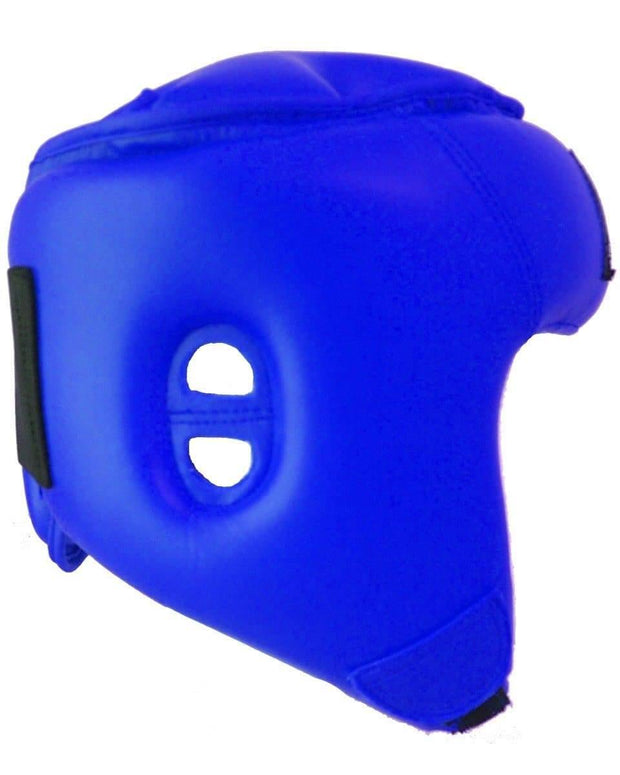 RingMaster Sports Open Face Kids Headguard AIBA styled Blue Image 2