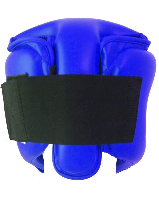 RingMaster Sports Open Face Kids Headguard AIBA styled Blue Image 3
