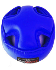 RingMaster Sports Open Face Kids Headguard AIBA styled Blue Image 4