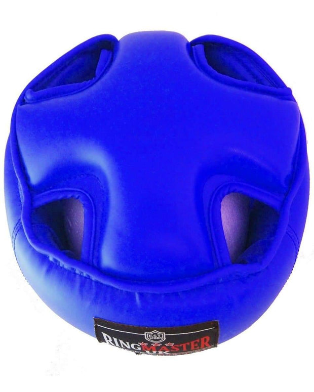 RingMaster Sports Open Face Headguard AIBA styled Blue Image 4