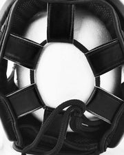 RingMaster Sports Open Face Boxing HeadGuard Synthetic Leather Black Image 4