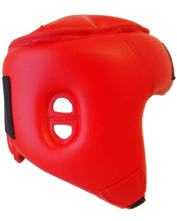 RingMaster Sports Open Face Headguard AIBA styled Red Image 2