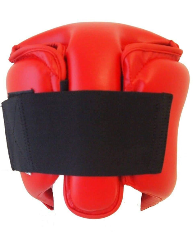 RingMaster Sports Kids Open Face Headguard AIBA styled Red Image 3