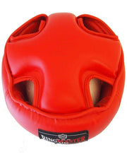 RingMaster Sports Open Face Headguard AIBA styled Red Image 4