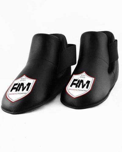 RingMaster Sports Kids Semi Contact Point Foot Protector Taekwondo Kickboxing Black image 1