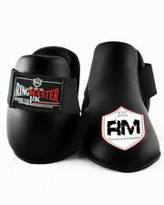 RingMaster Sports Kids Semi Contact Point Foot Protector Taekwondo Kickboxing Black Image 3
