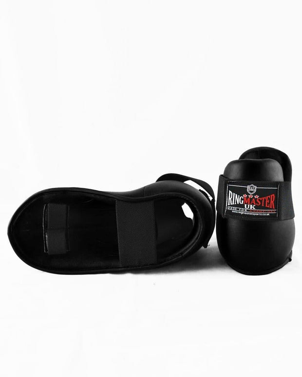 RingMaster Sports Kids Semi Contact Point Foot Protector Taekwondo Kickboxing Black Image 4
