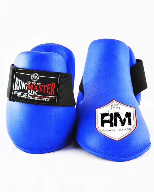 RingMaster Sports Kids Semi Contact Point Foot Protector Taekwondo Kickboxing Blue Image 3