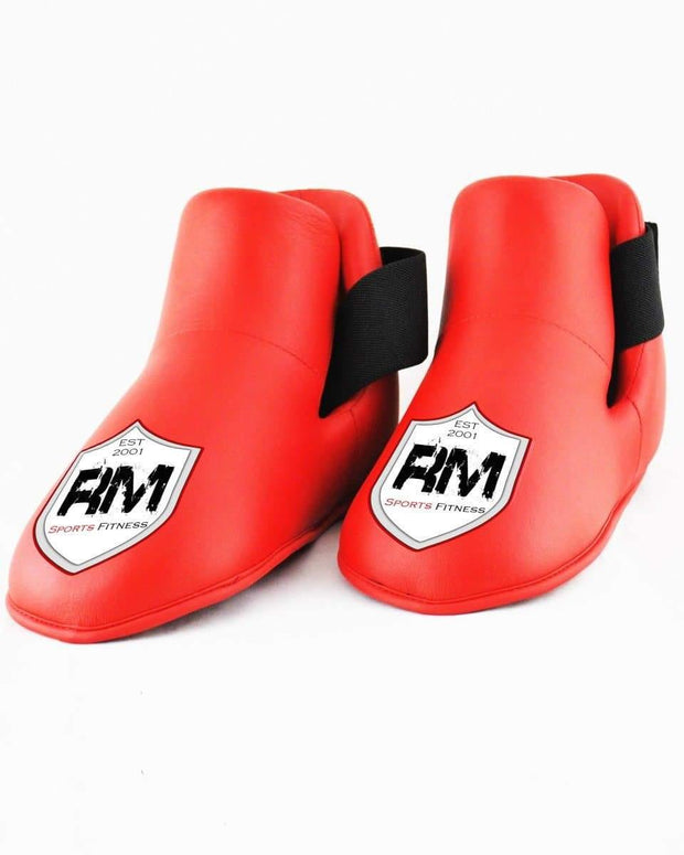 RingMaster Sports Kids Semi Contact Point Foot Protector Taekwondo Kickboxing Red