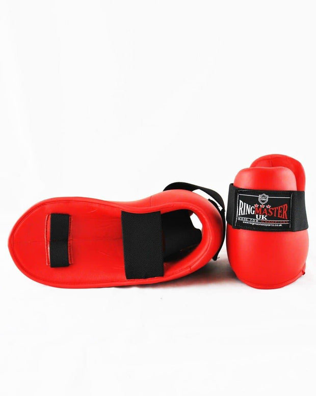 RingMaster Sports Kids Semi Contact Point Foot Protector Taekwondo Kickboxing Red Image 3